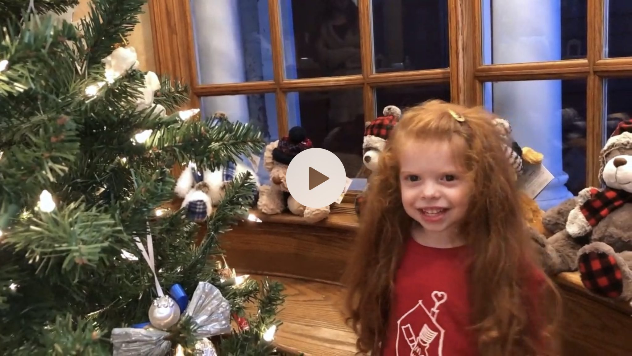 Still shot from Addie's Caroling for Kids video