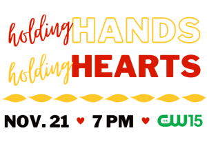 Holding Hands, Holding Hearts Event Graphic