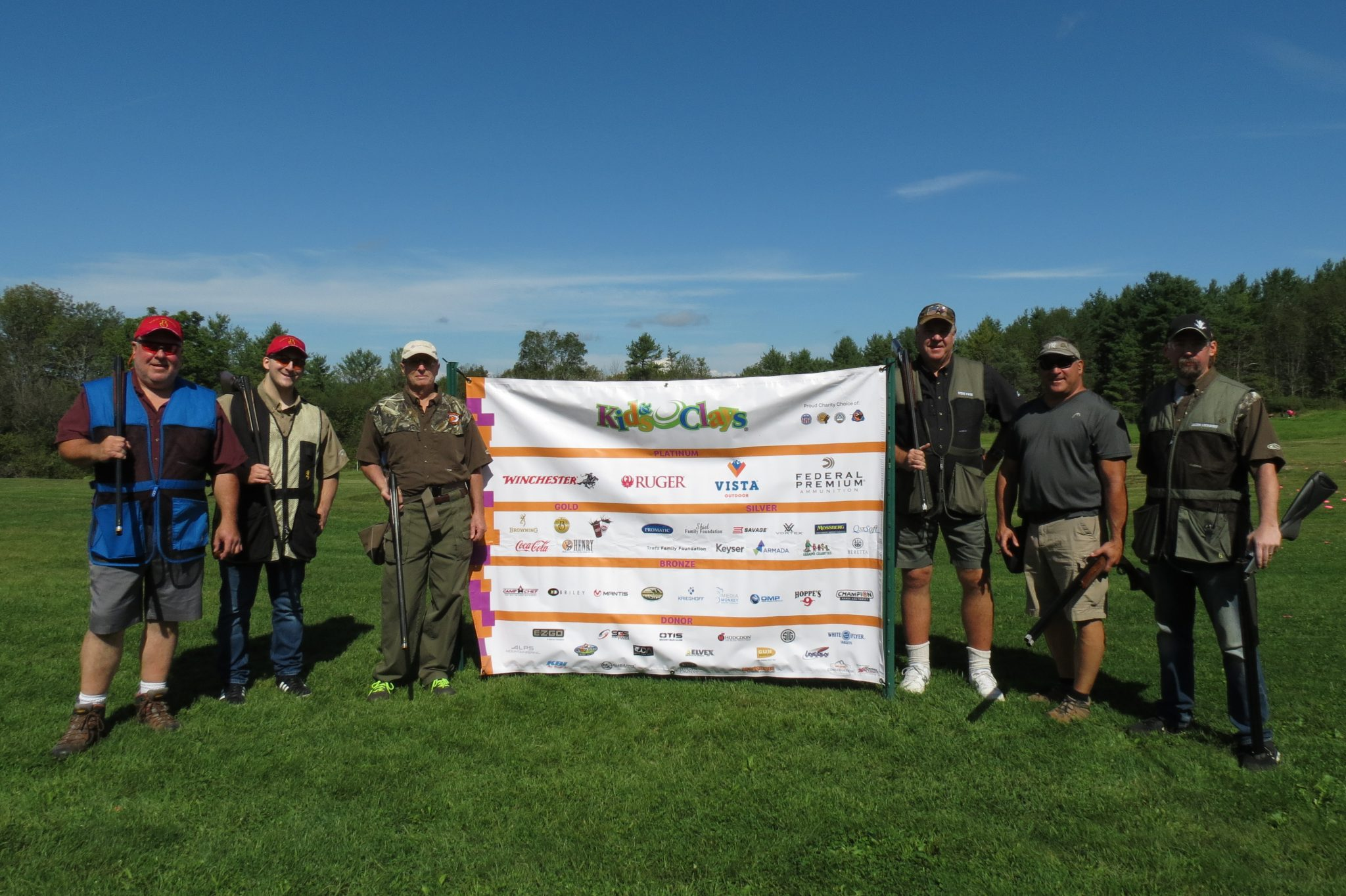 A team from the Guan Ho Ha Fish & Game Club at the 3rd Annual Kids & Clays Open