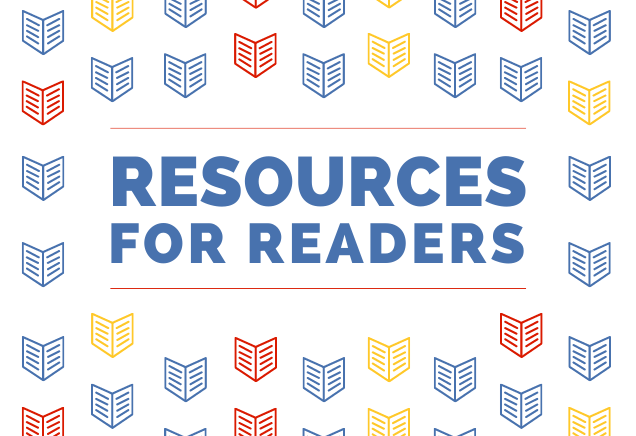 Resources for Readers graphic with books