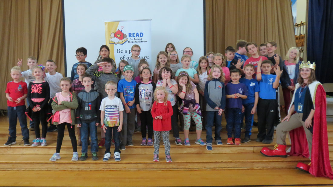 Schoharie Elementary School students at the 2019-2020 Read for RMHC-CR launch assembly