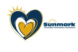 Sunmark Credit Union logo with heart on left side